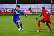 South Park defender Jerry O'Sullivan (2) during the Ryman League - Div One South match between Carshalton Athletic and South Park FC at War Memorial Sports Ground, Carshalton, United Kingdom on 19 November 2016. Photo by Jon Bromley.