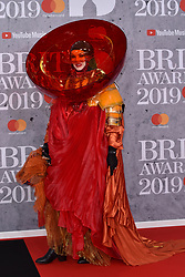 February 20, 2019 - London, United Kingdom of Great Britain and Northern Ireland - Daniel Lismore arriving at The BRIT Awards 2019 at The O2 Arena on February 20, 2019 in London, England  (Credit Image: © Famous/Ace Pictures via ZUMA Press)