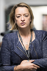 © Licensed to London News Pictures . 25/09/2017. Brighton, UK. BBC journalist Laura Kuenssberg at The Labour Party Conference at The Brighton Centre . Kuenssberg has been reported to require bodyguards to protect her when working covering the event . Photo credit: Joel Goodman/LNP