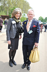 JILL, DUCHESS OF HAMILTON and SIR RODDY LLEWELLYN at the 2012 RHS Chelsea Flower Show held at Royal Hospital Chelsea, London on 21st May 2012.