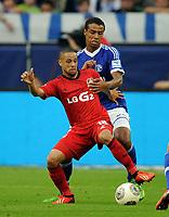 v.l. Sidney Sam, Joel Matip (Schalke)<br /> Fussball Bundesliga, Hannover 96 - FSV Mainz 05 4:1