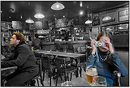 DAY TRIPPER- Honfleur cafe  photographed by Paul Williams