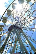 Silhouette of Ferris Wheel Minnesota State Fair.  St Paul Minnesota USA