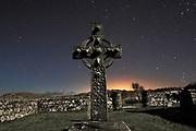 An unlit long exposure of Kildalton Cross on the Island of Islay