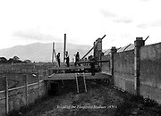 Construction work on Fitzgerald Stadium, Killarney in the 1930's..Photo by Daniel MacMonagle..from the MacMonagle, Killarney photo archive.www.macmonagle.com
