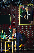 Ashgabat, Turkmenistan, October 1997..Saparmurat Niyazov at Independence Day celebrations. Poverty-stricken, but rich in oil and gas resources, this Central Asian former Soviet republic is ruled by the autocratic President Saparmurat Niyazov, or Turkmenbashi as he has renamed himself.