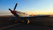 North American P-51 Mustang of the Erickson Aircraft Collection, at Sunset.