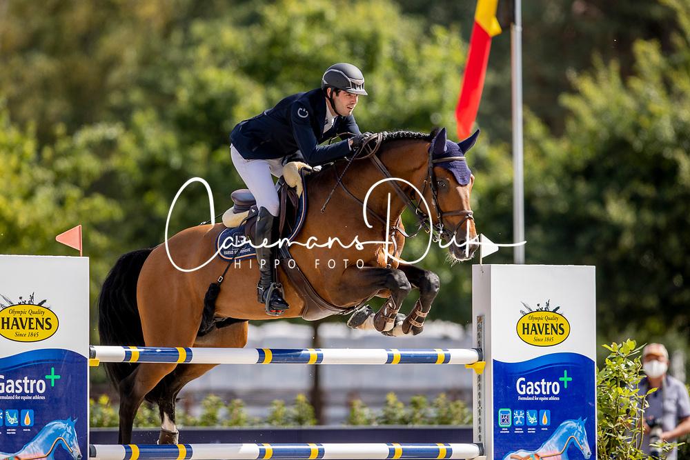 Budd Nathan, BEL, Cashpaid j&f<br /> Belgisch Kampioenschap Jumping  <br /> Lanaken 2020<br /> © Dirk Caremans<br /> 05/09/2020