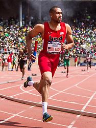 Penn RelaysUSA vs the World 4 x 400 meter relay, men Bryshon Nellum