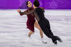 PYEONGCHANG-GUN, SOUTH KOREA - FEBRUARY 20: Tessa Virtue and Scott Moir of Canada compete in the Figure Skating Ice Dance Free Dance on day eleven of the PyeongChang 2018 Winter Olympic Games at Gangneung Ice Arena on February 20, 2018 in Gangneung, South Korea.  Photo by Ronald Hoogendoorn / Sportida