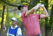 ST. LOUIS, MO - AUGUST 09: Rich Been tees off on the #11 hole during the first round of the PGA Championship on August 09, 2018, at Bellerive Country Club, St. Louis, MO.  (Photo by Keith Gillett/Icon Sportswire)