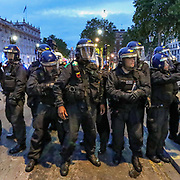 Police clash with protesters in central London on Wednesday, June 3, 2020, after a demonstration over the death of George Floyd, a black man who died after being restrained by Minneapolis police officers on May 25. Protests have taken place across America and internationally after a white Minneapolis police officer pressed his knee against Floyd's neck while the handcuffed black man called out that he couldn't breathe. The officer, Derek Chauvin, has been fired and charged with murder. (Photo/ Vudi Xhymshiti)