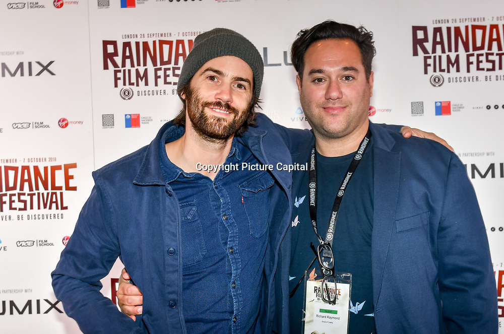 Jim Sturgess is an English actor and Director Richard Raymond attend 'Souls of Totality' film at Raindance Film Festival 2018, London, UK. 30 September 2018.