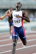 Aug 28, 2007; Osaka, JAPAN; Kerron Clement (USA) won the 400m hurdles in 47.61 in the 11th IAAF World Championships at Nagai Stadium.