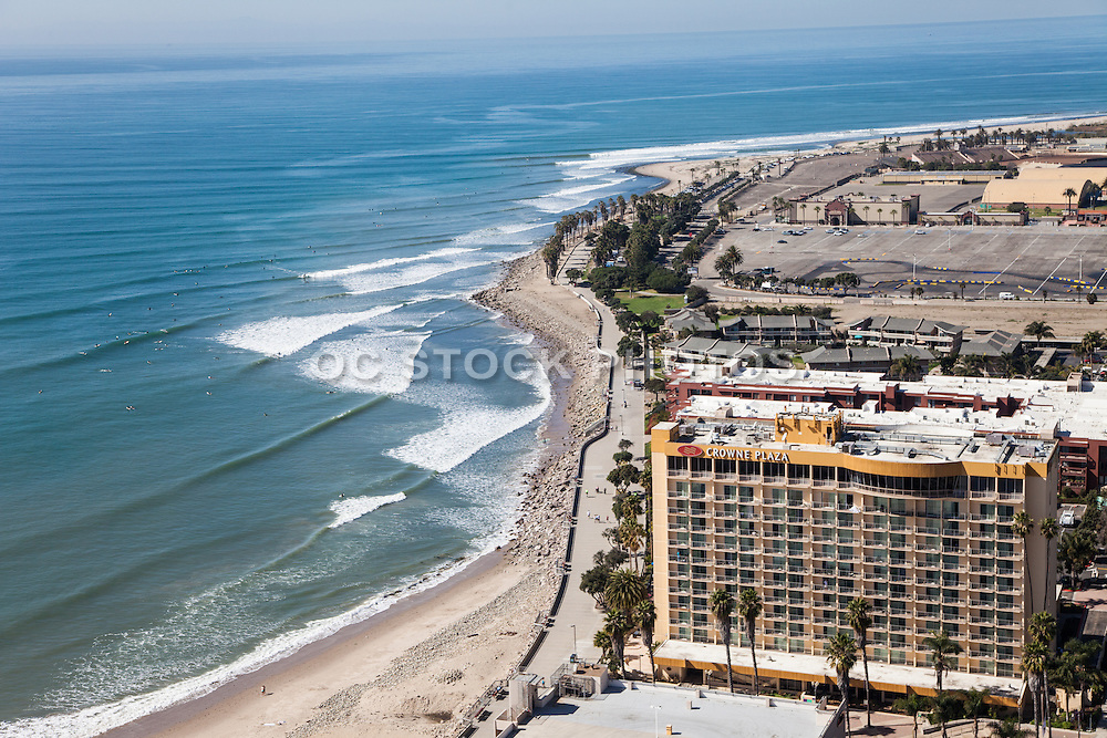 Ventura Beach and the Crowne Plaza Hotel