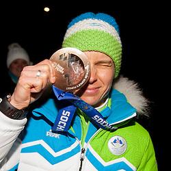 20140220: SLO, Biathlon - Reception of bronze medalist Teja Gregorin after Sochi Olympic Games