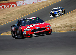 June 22, 2018 - Sonoma, CA, U.S. - SONOMA, CA - JUNE 22: Kurt Busch,in the Haas Automation sponsored Stewart-Haas Racing Ford goes through Turn 8 during practice for the Monster Energy NASCAR Cup Series - Toyota/Save Mart 350 at Sonoma Raceway in Sonoma, CA. (Photo by Larry Placido/Icon Sportswire) (Credit Image: © Larry Placido/Icon SMI via ZUMA Press)