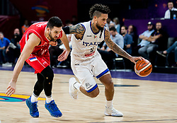 Vasilje Micic of Serbia vs Daniel Hackett of Italy during basketball match between National Teams of Italy and Serbia at Day 14 in Round of 16 of the FIBA EuroBasket 2017 at Sinan Erdem Dome in Istanbul, Turkey on September 13, 2017. Photo by Vid Ponikvar / Sportida