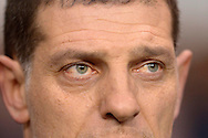 a close up of West Ham United manager Slaven Bilic ahead of the Barclays Premier league match, Tottenham Hotspur v West Ham Utd at White Hart Lane in London on Sunday 22nd November 2015.<br /> pic by John Patrick Fletcher, Andrew Orchard sports photography.