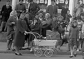 08 July 1965 Opening of Powers Supermarket in Ballyfermot. The crowds gather before the doors open.