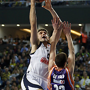 Fenerbahce Ulker's Mirsad TURKCAN (L) during their Euroleague Basketball Top 16 Game 2 match Fenerbahce Ulker between Power Electronics Valencia at Sinan Erdem Arena in Istanbul, Turkey, Thursday, January 27, 2011. Photo by TURKPIX