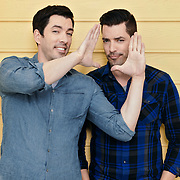 Celebrity designers and brothers, Drew and Jonathan Scott pose for a portrait during a production day for their HGTV show, Brother vs Brother, Wednesday, February 15, 2017 in Galveston, Texas. Season five of the show airs later this year.<br /> <br /> Todd Spoth for The New York Times.