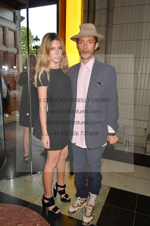 VISCOUNT MACMILLAN and DAISY BOYD at a private view of 'Horst: Photographer of Style' at The V&A Museum, London on 3rd September 2014.