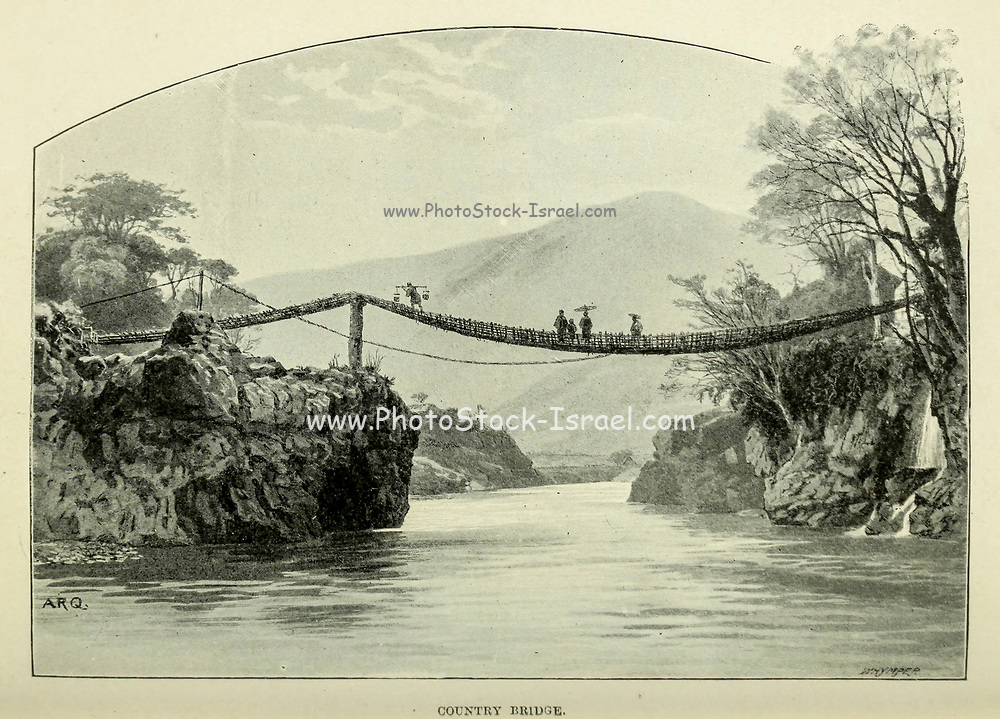 Country Bridge from the book ' Rambles in Japan : the land of the rising sun ' by Tristram, H. B. (Henry Baker), 1822-1906. Publication date 1895. Publisher New York : Revell