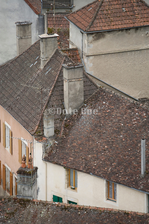 rooftops of an old France village