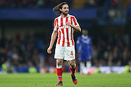 Joe Allen of Stoke City looking on. Premier league match, Chelsea v Stoke city at Stamford Bridge in London on Saturday 31st December 2016.<br /> pic by John Patrick Fletcher, Andrew Orchard sports photography.