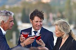 October 5, 2017 - Nice, France - Jean Pierre Rivere (president de l OGC Nice) - Christian Estrosi (Maire de Nice, president de la metropole Nice Cote d Azur) - Nathalie Boy de la Tour  (Credit Image: © Panoramic via ZUMA Press)