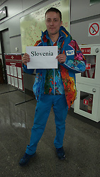Welcome note for team Slovenia in Sochi, Russia, on February 4, 2014.