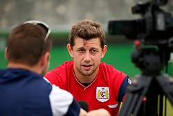 Frank Fielding of Bristol City is interviewed after training - Mandatory by-line: Matt McNulty/JMP - 21/07/2017 - FOOTBALL - Tenerife Top Training Centre - Costa Adeje, Tenerife - Pre-Season Training