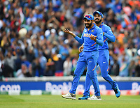 Cricket - 2019 ICC Cricket World Cup - Group Stage: India vs. Australia<br /> <br /> Indian substitute Jadeja catches Australia's Glenn Maxwell for 28 off the bowling of Yuzvendra Chahal, at The Kia Oval.<br /> <br /> COLORSPORT/ASHLEY WESTERN