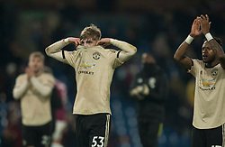 Manchester United applaud the fans at the final whistle - Mandatory by-line: Jack Phillips/JMP - 28/12/2019 - FOOTBALL - Turf Moor - Burnley, England - Burnley v Manchester United - English Premier League