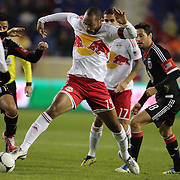 Thierry Henry, Red Bulls, challenged by Marcelo Saragosa, D.C. United, (left)  during the New York Red Bulls V D.C. United Major League Soccer, Eastern Conference Semi Final 2nd Leg match at Red Bull Arena, Harrison. New Jersey. USA. 8th November 2012. Photo Tim Clayton