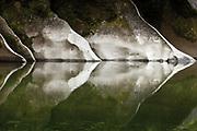 Limestone reflections, Paparoa National Park, West Coast, New Zealand