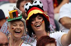 06.07.2011, Commerzbank-Arena, Frankfurt, GER, FIFA Women Worldcup 2011, Gruppe D, Äquatorial-Guinea (EQG) vs. Brasilien (BRA) ,. im Bild deutsche Fans . // during the FIFA Women´s Worldcup 2011, Pool D, Equatorial Guinea vs Brazil on 2011/07/06, Commerzbank-Arena, Frankfurt, Germany. EXPA Pictures © 2011, PhotoCredit: EXPA/ nph/  Karina Hessland       ****** out of GER / CRO  / BEL ******