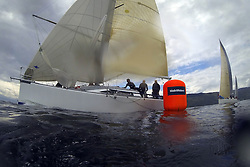 The Silvers Marine Scottish Series 2014, organised by the  Clyde Cruising Club,  celebrates it's 40th anniversary.<br /> GBR5991T, Prime Suspect, Charlie Frize, CCC, Mills 36.<br /> Final day racing on Loch Fyne from 23rd-26th May 2014<br /> <br /> Credit : Marc Turner / PFM