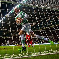 27/11/14 UEFA EUROPA LEAGUE<br /> CELTIC v SALZBURG<br /> CELTIC PARK - GLASGOW<br /> Celtic's Stefan Johansen collects the ball having pulled a goal back for his side