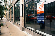 31 AUGUST 2020 - DES MOINES, IOWA: Retail space available in downtown Des Moines. Des Moines, like many US cities, is suffering through an extended business slump. Des Moines is home to many insurance and financial services, and those businesses have moved to a work from home model. Downtown businesses, like cafes and convenience stores and dealing with an unprecedented loss of business.      PHOTO BY JACK KURTZ