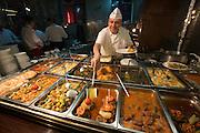 Istanbul. Haci Baba Restaurant with traditional Turkish food.