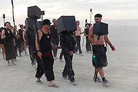 Solipmission - An Initiation Into Future Realities by: Dadara from: Amsterdam, Netherlands year: 2017<br /> <br /> A small crew of artists will be locked up inside a black box for the entire week of the event. They will create a virtual Burning Man on the inside walls without ever viewing the outside, just based on what visitors tell them. URL: http://www.solipmission.com Contact: dadara@dadara.nl