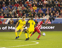 STYLEPREPENDBradley Wright-Phillips (99) of Red Bulls controls ball during 2nd leg MLS Cup Eastern Conference semifinal game against Columbus Crew SC at Red Bul Arena Red Bulls won 3 - 0 agregate 3 - 1 and progessed to final  (Credit Image: © Lev Radin/Pacific Press via ZUMA Wire)