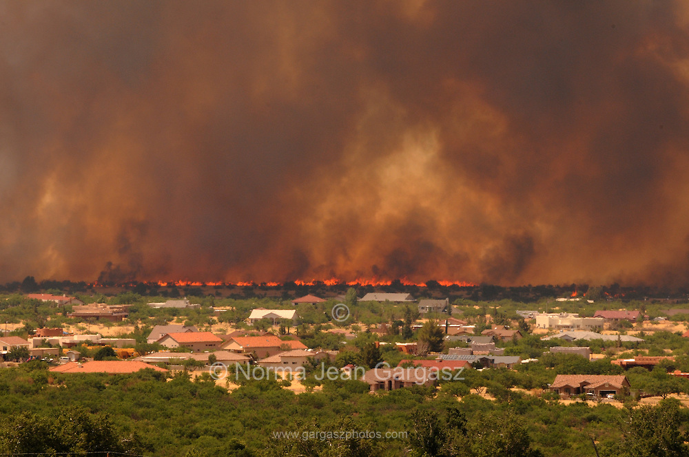 A fire that started on June 17 on Fort Huachuca in Sierra Vista, Arizona, USA, is the second to burn in the area.  Crews continued to battle the Monument Fire in the Coronodo National Forest in Sierra Vista.