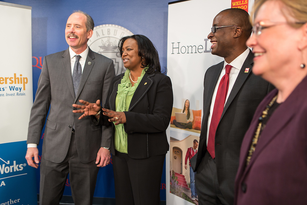 Press conference in Albuquerque with Mayor Richard J. Berry announcing the LIFT program with representatives from Wells Fargo.