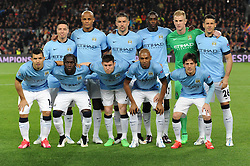 Manchester City team to face FC Barcelona - Photo mandatory by-line: Dougie Allward/JMP - Mobile: 07966 386802 - 18/03/2015 - SPORT - Football - Barcelona - Nou Camp - Barcelona v Manchester City - UEFA Champions League - Round 16 - Second Leg