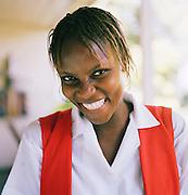 Hotel staff at a hotel in Port-Au-Prince, Haiti