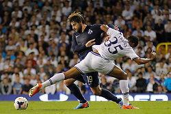 29.08.2013, White Hart Lane, London, ENG, UEFA CL Qualifikation, Tottenham Hotspur vs FC Dinamo Tiflis, Rueckspiel, im Bild Dinamo Tbilisi's Elguja Grigalashvili and Tottenham's Zeki Fryers compete for the ball during the UEFA Europa League Qualifier second leg match between Tottenham Hotspur and FC Dinamo Tiflis Zuerich at the White Hart Lane in London, England on 2013/08/29 . EXPA Pictures © 2013, PhotoCredit: EXPA/ Mitchell Gunn <br /> <br /> ***** ATTENTION - OUT OF GBR *****