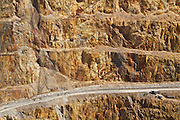 Detail of the Waihi gold mine, in the township of Waihi, New Zealand.